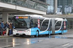 Buses at Malaga Airport