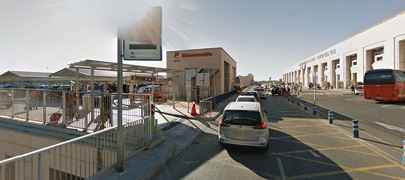 Short term parking at Malaga Airport