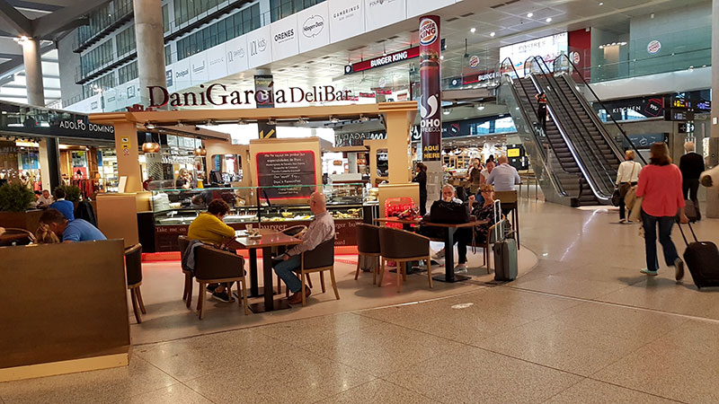 Cafes and Bars at Malaga Airport