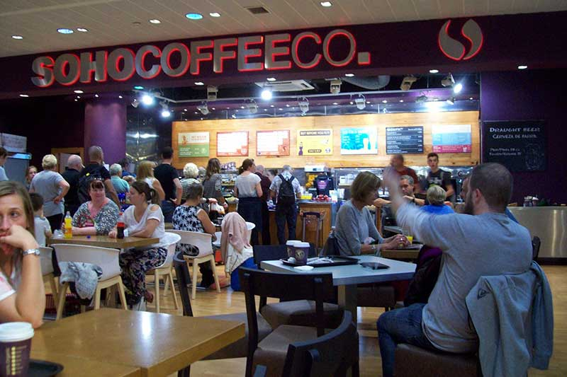 Coffee shops at Malaga Airport - Sohocoffee