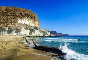 View of cove in Almería