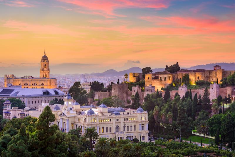 View of Málaga Old Town